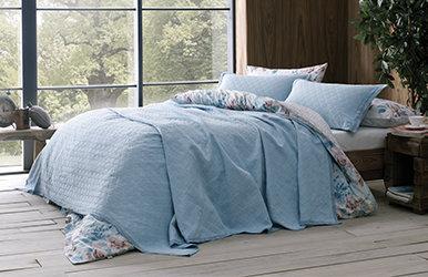 Mellow Yatak Örtüsü Seti Açık Mavi