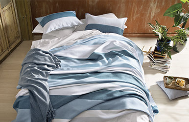 Martin Yatak Örtüsü Seti Mavi