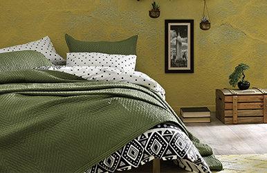 Lukas Yatak Örtüsü Seti Yeşil