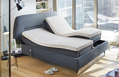 Move Up Master Storage Bed Set Bej