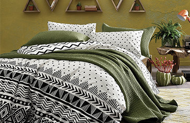 Brenna Ranforce Duvet Cover Set Siyah