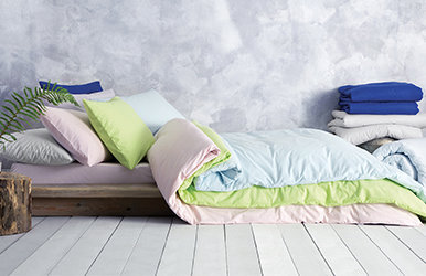 Claro Ranforce Duvet Cover Set Yeşil