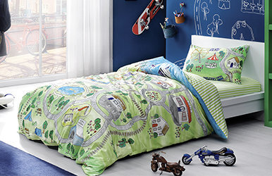 Colin Child Duvet Cover Set Yeşil