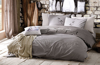 Daniel Ranforce Duvet Cover Set Gri