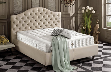 Grande Storage Bed Set Krem