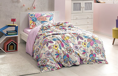 Pera Child Duvet Cover Set Pembe