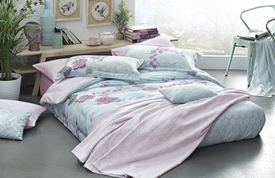 Rosa Saten Duvet Cover Set