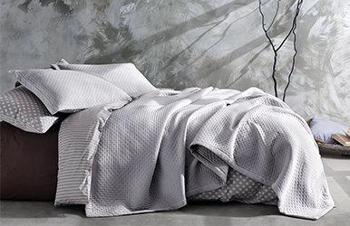 Tessa Bedspread Set Koyu Gri