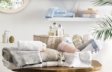 Larix Guest Towel Açık Gri