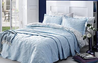 Merlin Yatak Örtüsü Seti Mavi