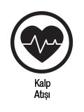 Kalp atış hızını takip edip, grafik olarak görebilme