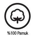Ürün kumaşı %100 Pamuk İpliğinden üretilmiştir.