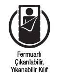 Fermuarlı çıkarılabilir, yıkanabilir kılıf