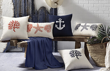 Dory Embroidery Decorative Pillow