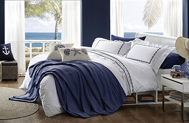 Oasis Embroidery Duvet Cover Set