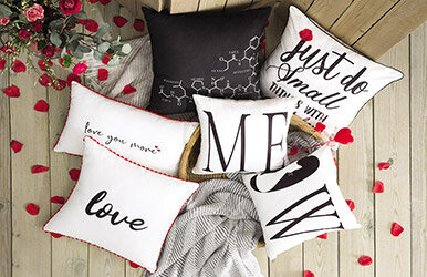 Rod Embroidery Decorative Pillow