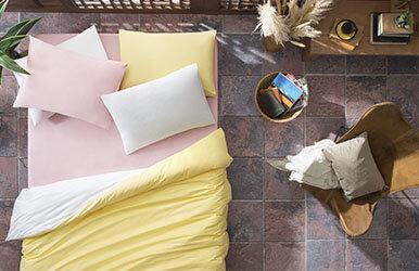 Aria Standard Pillowcase Pudra