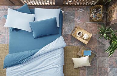 Aria Standard Pillowcase Koyu Mavi