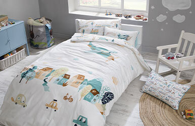 Plane Child Ranforce Duvet Cover Set