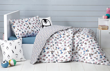 Save Penguins Child Ranforce Duvet Cover Set