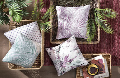 Perla Printed Decorative Pillow Lila