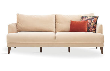 Enza Home Fiore 3 Seat Sofabed Vizon