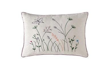 Alda Embroidered Decorative Pillow