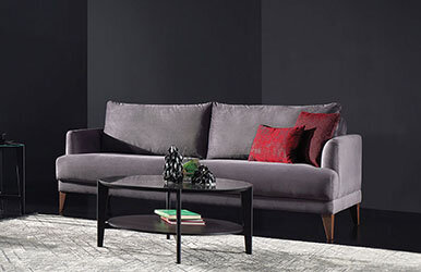 Enza Home Fiore 2 Seat Sofabed Koyu Gri