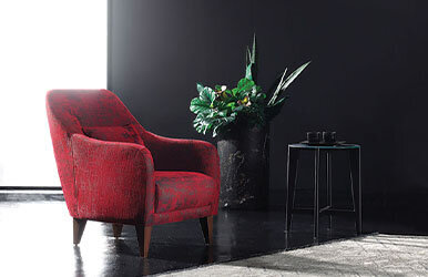 Enza Home Fiore Berjer Kırmızı