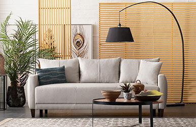 Enza Home Smart 3 Seat Sofabed Açık Gri