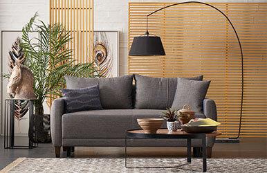Enza Home Smart 2.5'lu Yataklı Koltuk Kahverengi