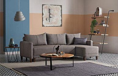 Enza Home Smart Yataklı Köşe Takımı - Büyük Kahverengi