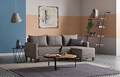 Enza Home Smart Small L Corner Sofa Kahverengi