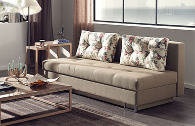 Enza Home Taylor 3 Seat Sofabed Bej