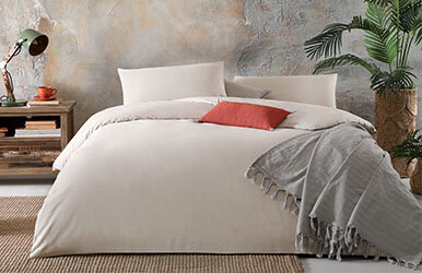 Alegra Ranforce Duvet Cover Set Bej