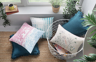 April Printed Decorative Pillow