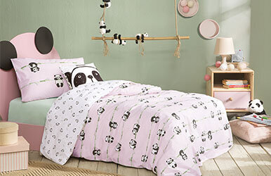 Panda Child Ranforce Duvet Cover Set