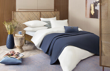 Darcel Duvet Cover Set with Piping Beyaz