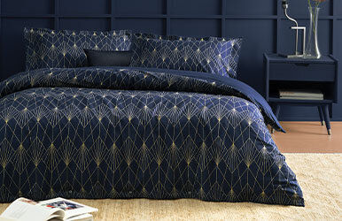 Arte Ranforce Duvet Cover Set Lacivert