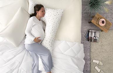 Hamile Uyku Yastığı Yastık Beyaz/Gri