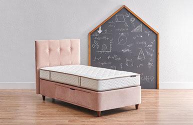 Nova Başlık - Smartside Çekmeceli Baza - Multi Yatak Set Yatak Baza Başlık Seti