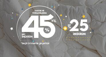 45. YILA ÖZEL NET %45 İNDİRİM