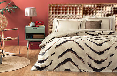 Tiger Satin Duvet Cover Set