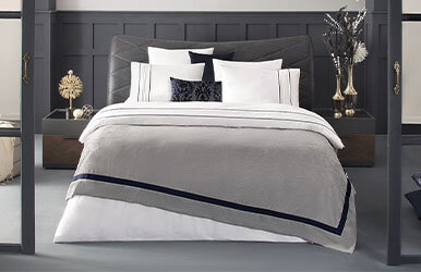 Terri Duvet Cover Set with Piping Lacivert