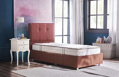 Star - Conform - Somni Bed Base Headboard Set of 3 Kırmızı