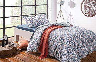 Espiral Ranforce Duvet Cover Set Mavi