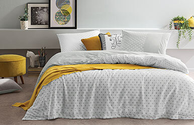 Mensa Ranforce Duvet Cover Set With Fitted Sheets Beyaz/Gri