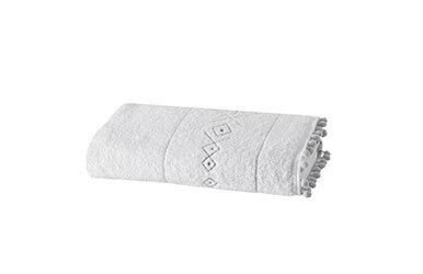 Kalliste Banyo Havlusu Beyaz/Gri