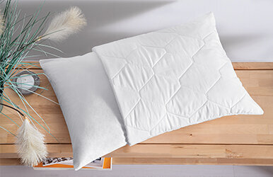 Classy Quilted Pillowcase Beyaz