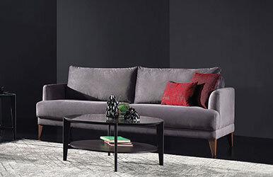 Enza Home Fiore 3 Seat Sofabed Koyu Gri